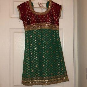 Boho Indian style Midi Dress